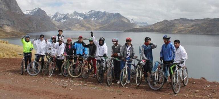 Primer Recorrido de los Ciclistas de los Andes del Perú, por la Conservación del Ecosistema de la Laguna Punrun